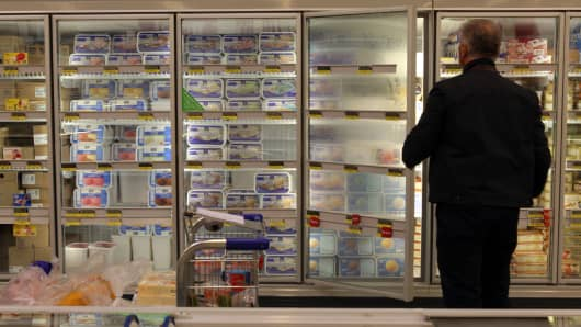 Frozen Food Aisle, supermarket
