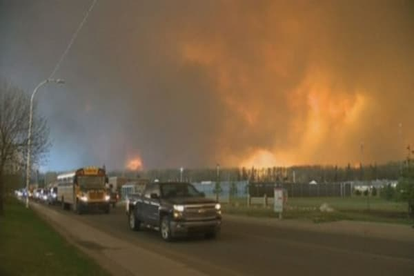 Wildfires ravage city in Alberta, Canada