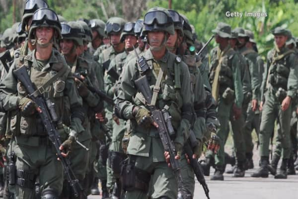 Venezuela soldiers steal goats for food