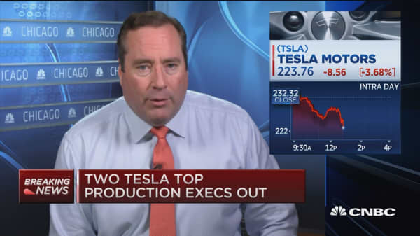 Two Tesla top production execs out