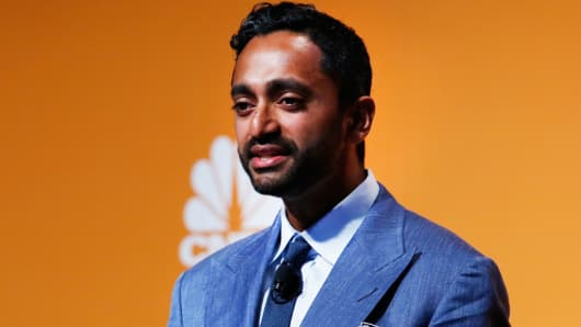 Chamath Palihapitiya speaking at a Sohn conference in New York.
