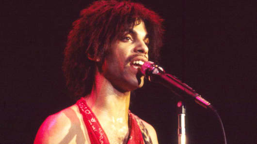 The musician Prince performs in 1981.