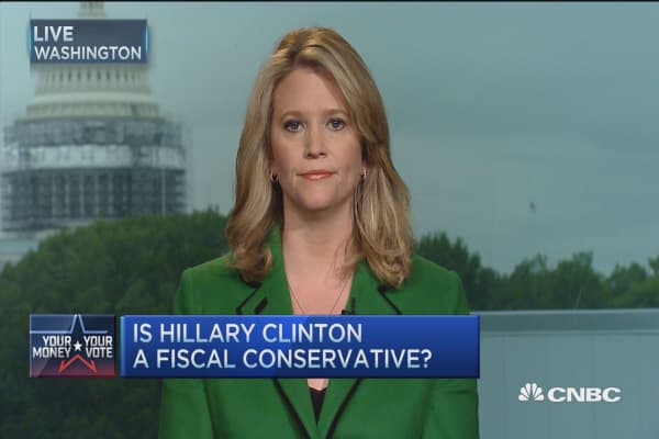 Hillary Clinton a fiscal conservative