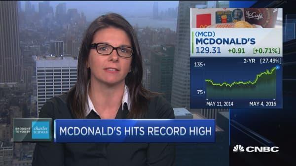 Trading Nation: McDonald's hits record high