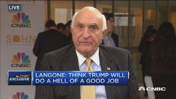 Langone: Trump will do a hell of a good job