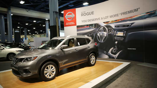 Nissan Rogue At Miami Beach International Auto Show The Convention Center On November