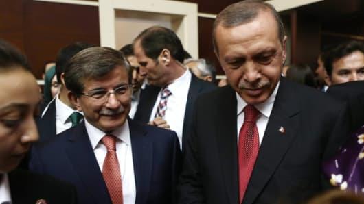 President Recep Tayyip Erdogan and Prime Minister Ahmet Davutoglu