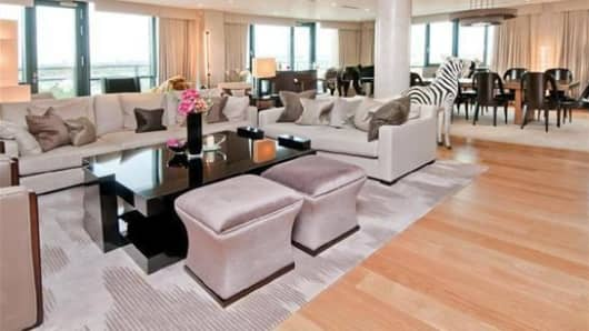 Inside the £8 million penthouse in London.