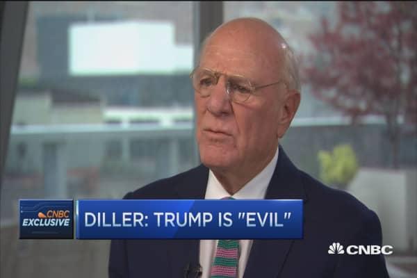 Diller: Trump is 'evil'