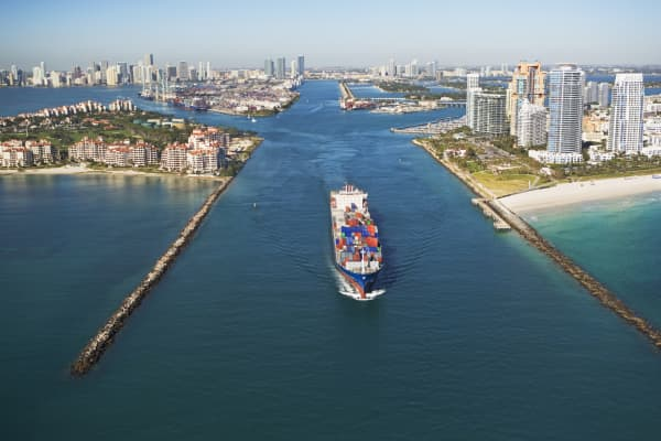 Seaport in Miami, Florida