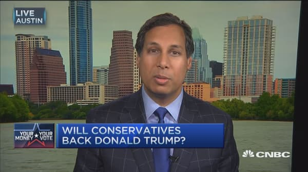 Conservatives ready to back Trump?