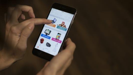 Smartphone, Alibaba app