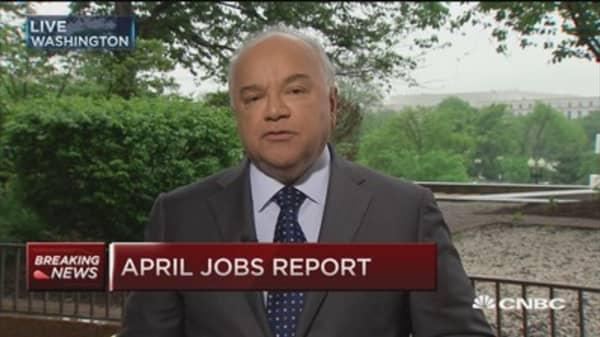 April nonfarm payroll jobs up 162,000