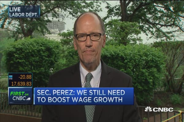 Sec. Perez: Long term unemployed numbers falling