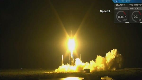 SpaceX rocket sticks landing out at sea