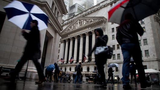 Wall Street, NYSE rainy day