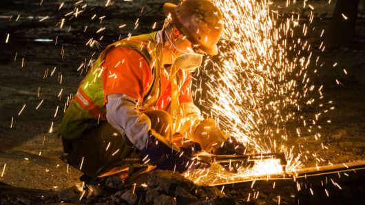 Welder sparks hot jobs