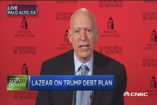Lazear responds to Trump's debt plan
