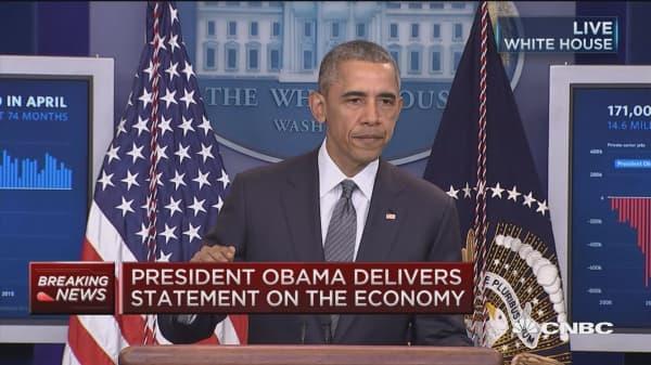 President Obama: Economy adds 160k new jobs
