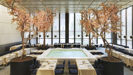 "Four Seasons restaurant, the famed New York restaurant and home of the original ""Power Lunch"""
