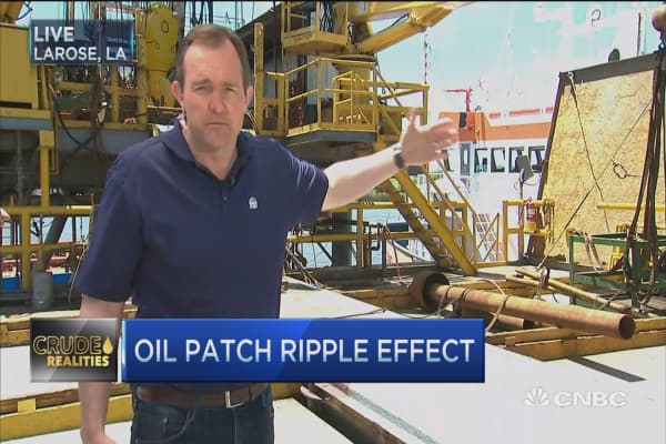 Oil patch ripple effect