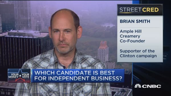 Which candidate is best for indie businesses?