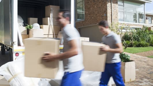 Moving company, moving van