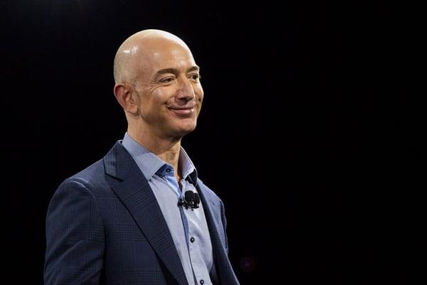 Jeff Bezos, chief executive officer of Amazon.com Inc.