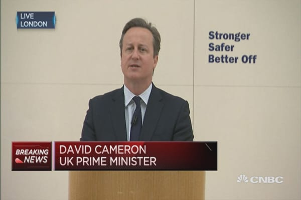 Brexit would be a reckless cause: David Cameron