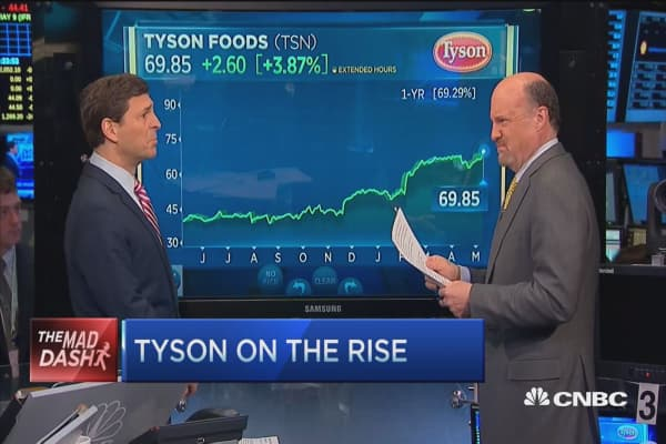Cramer's Mad Dash: Tyson on the rise