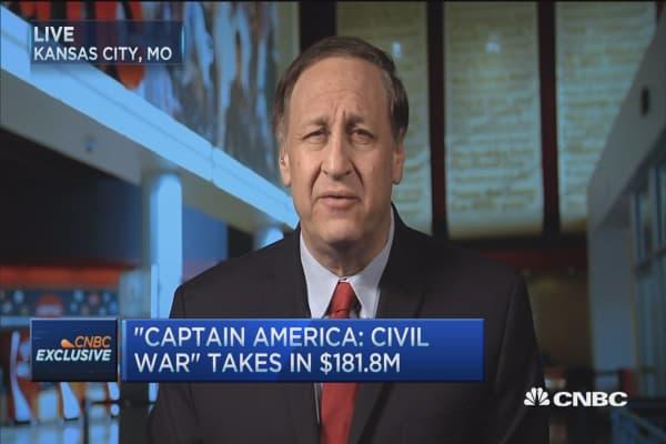 'Captain America: Civil War' takes in $181.8M