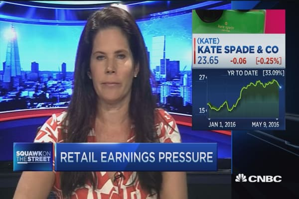 Retail earnings pressure