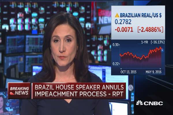Brazil stock market pounded