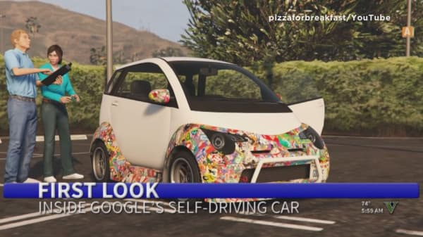 Youtuber hacks 'Grand Theft Auto' to include Google's driverless car