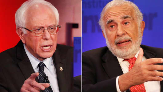 Bernie Sanders and Carl Icahn