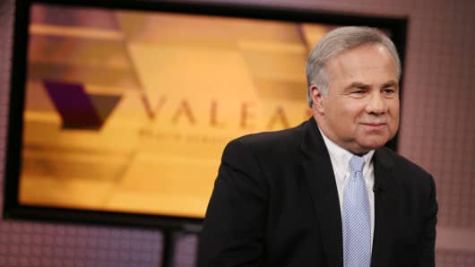 Joseph Papa, CEO of Valeant speaks with Jim Cramer on the set of Mad Money