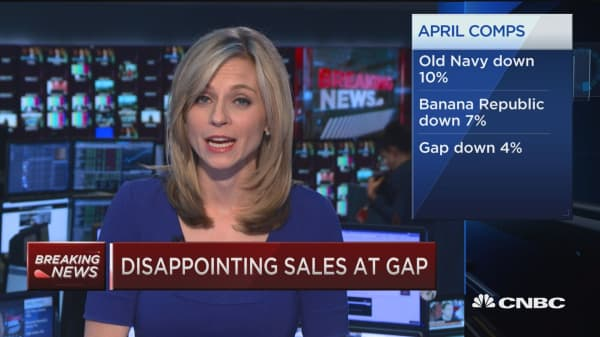 Disappointing sales at GAP