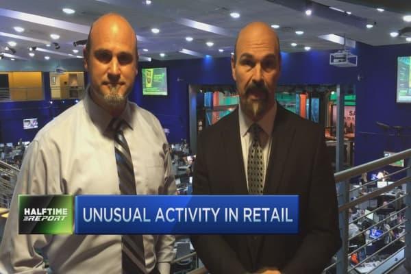Unusual activity: bulls target XRT & Allergan