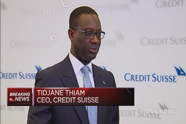 Clearly see an improving trend: Credit Suisse CEO
