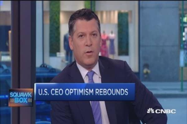US CEO optimism rebounds: YPO