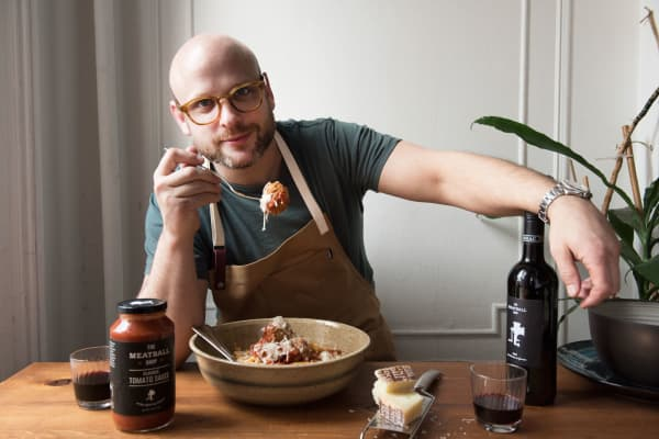 Daniel Holzman, Chef, Owner and co-founder of The Meatball Shop.