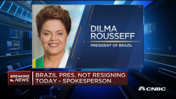 Brazil pres. not resigning today: Spokesperson