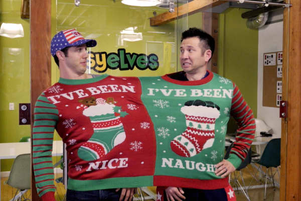 Tipsy Elves co-founders Evan Mendelsohn and Nick Morton met in college and are still great friends.