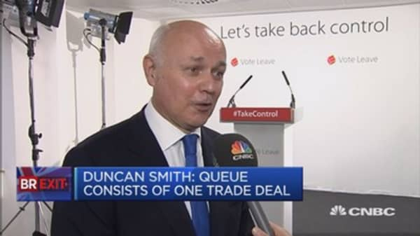 US speaker Paul Ryan backs Brexit: Duncan Smith