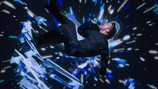 Sergey Lazarev of Russia performs the song 'You Are The Only One' during the semifinals of the 2016 Eurovision Song Contest.