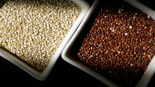 Quinoa is technically a seed, but is consumed like a grain.