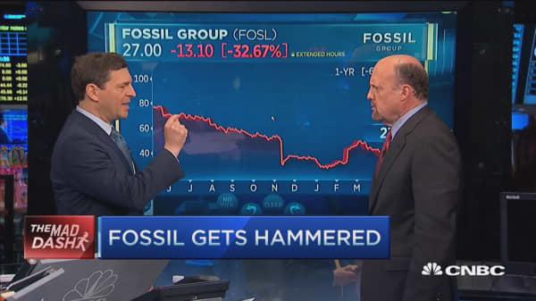 Cramer's Mad Dash: Fossil gets hammered