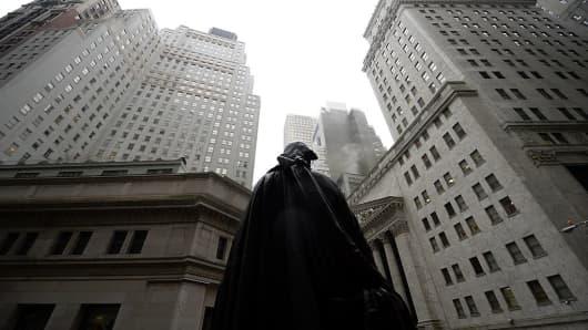 Wall Street, gloomy dark
