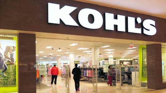 A Kohl's store in Jersey City, NJ.