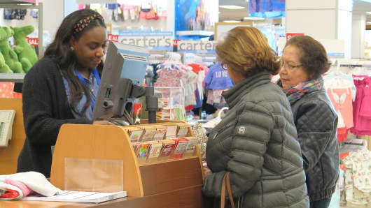 Shoppers at a Kohl's store in Jersey City, NJ.